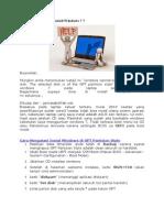 Cara Mengatasi Instal Windows Di GPT Partision Style