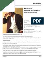 Kazzmatazz! Interview with Ali Kazmi