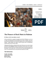 The Prioneers of Rock Music in Pakistan