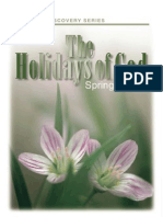 The Holidays of God the Spring Feasts