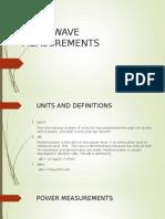 Microwave Measurements