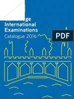 Cambridge International Examinations Catalogue 2016