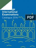 Cambridge International Examinations Catalogue 2016
