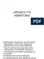APROACH to Hematuria