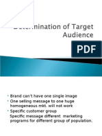 Determination of Target Audience