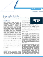 Idpc Briefing Paper Drug Policy in India