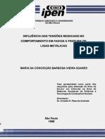 INFLUÊNCIA DAS TENSÕES RESIDUAIS NO COMPORTAMENTO EM FADIGA E FRATURA DE LIGAS METÁLICAS
