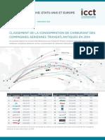 Classement de la consommation de carburant des compagnies aériennes transatlantiques en 2014