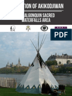Akikodjiwan Algonquin Sacred Falls Backgrounder