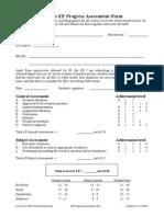 EE Progress Assessment WORD