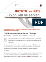 17 Nov Email to Rex Tillerson - Children Sue Over Climate Change