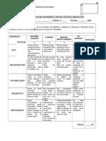Rúbrica Para Evaluar Producción de Textos Narrativos