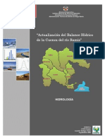Actualizacion Del Balance Hidrico de La Cuenca Del Rio Ramis