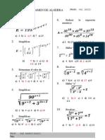 Examen de Conocimeintos de Algebra