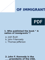 Quiz About Immigrants