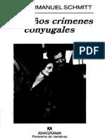 Pequenos Crimenes Conyugales - Eric-Emmanuel Schmitt