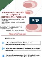 Dispositif Institutionnel Marocain