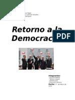 Retorno a La Democracia