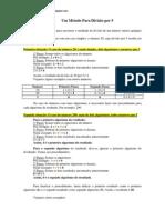 Método de Divisão Por 5