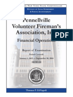 New York State Comptroller Tom DiNapoli's audit of the Pennellville Volunteer Fireman's Association