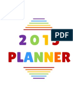 Colourful 2015 Planner