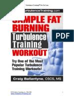 Sample Fat Burning Workout