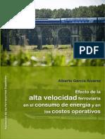 Efecto Alta Velocidad Consumo Energía AlbertoGarcía 2015