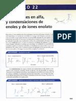 Sustituciones en alfa y condensaciones de enoles y de iones enolato