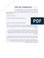 Instrucciones de Instalación Pipesim 2014