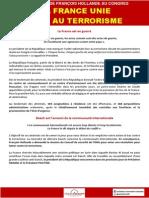 """GroupeSRC """"La France unie face au terrorisme"""""""