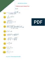 Problemas Para Trabajo Final Matematica I