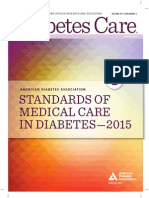 Standards of Medical Care in Diabetes 2015-2