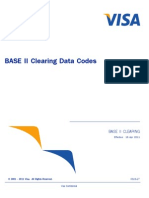 BASE II Clearing Data Codes