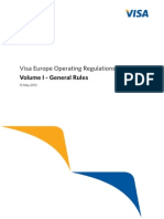 Visa Europe Operating Regulations Volume I - General Rules, May 2013