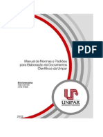13 - Manual de Normas e Padrões Para Apresentação de Trabalhos Científicos Da Unipar