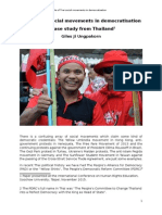The Role of Thai Social Movements in Democratisation