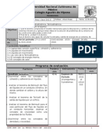 Plan de Evaluación Tercer Periodo Área I grupo 6010