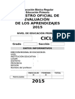 Registro Oficial de Evaluacion
