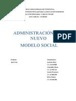 Administracion Del Nuevo Modelo Social
