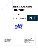 Summer Training Report on NTPC Tanda, Ambedkar Nagar