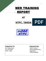 Summer Training Report on NTPC Tanda, Ambedkar Nagar