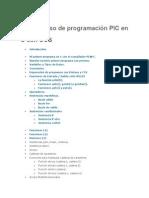 Indice Curso de Programacion Pic en c Con Ccs
