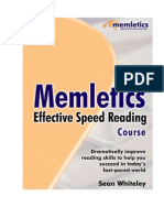 Sean Whiteley] Memletics Effective Speed Reading