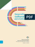 Desarrollo Cultural Para Todos. Informe 2014