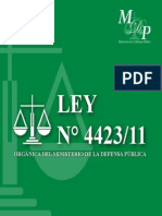 Ley 4423-11 Defensa Pública - PY