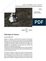 Marriages and Choices