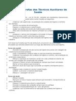 TAS 1 - Principais Tarefas Dos Técnicos Auxiliares de Saúde