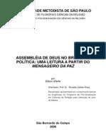 AD No Brasil e a Política - Leitura a Partir Do Mensageiro Da Paz