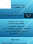 digital education powerpoint presentation
