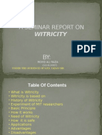 seminar report on witricity